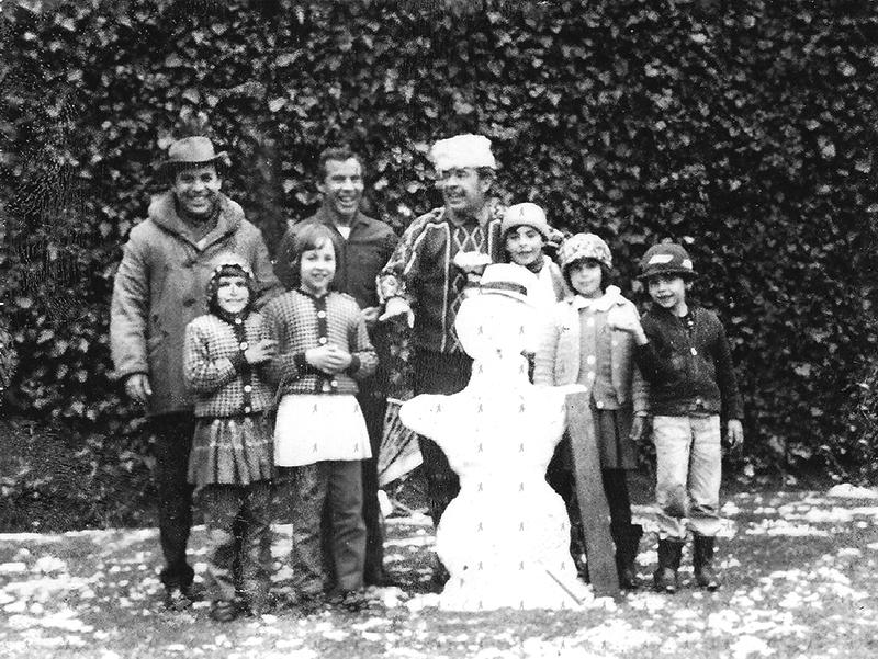 0006-FAM-W TT, Carlitos, Rosy y familia de Ramon en la nieve