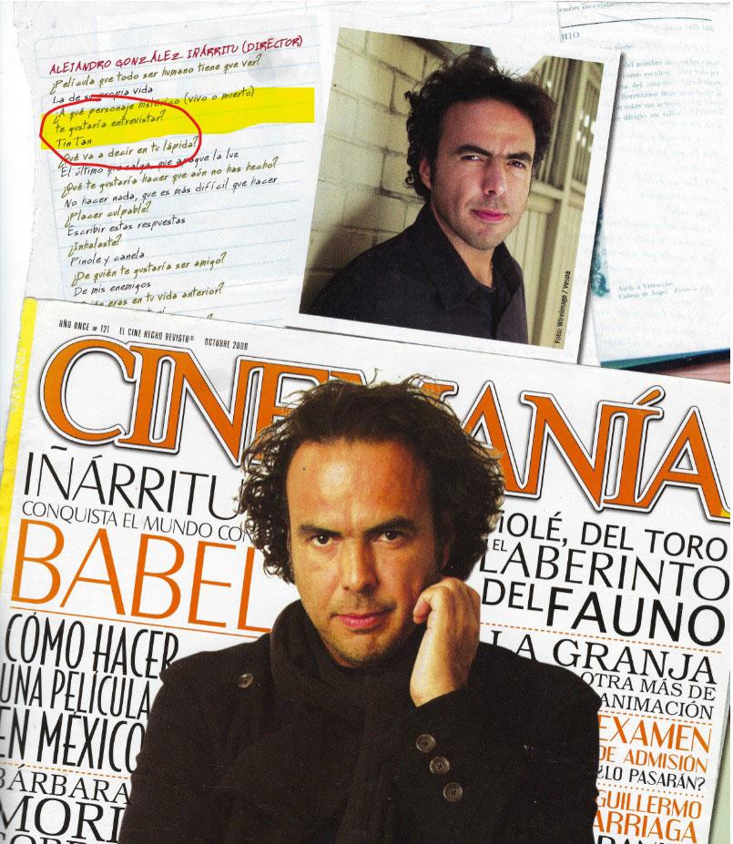 Alejandro para la revista Cinemanía