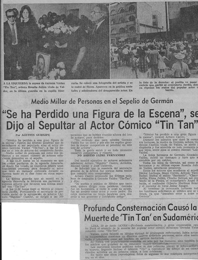 Recorte de Periodico-Se ha perdido de la escena